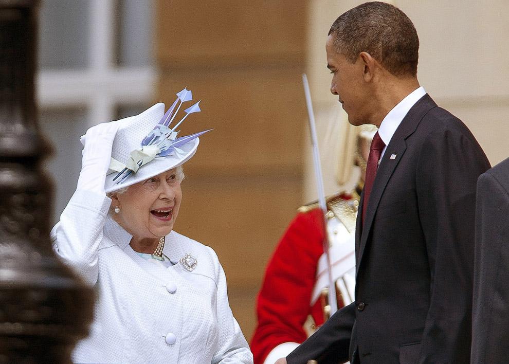 Королева и Барак Обама