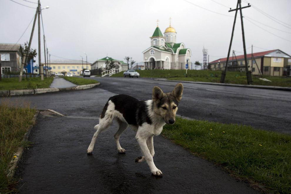 Православный храм в Южно-Курильске, остров Кунашир