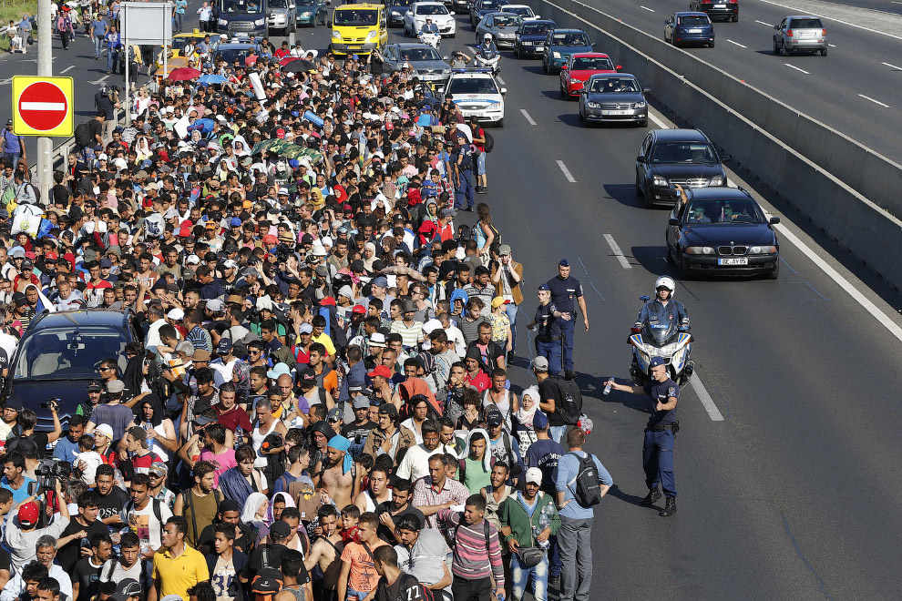 Мигранты в Будапеште, Венгрия