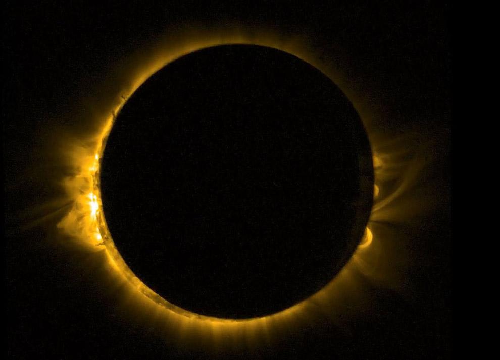 Солнечное затмение: вид из космоса