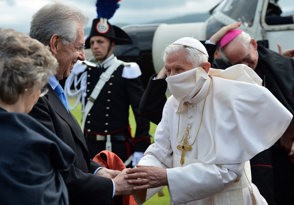 Папа Римский Бенедикт XVI в Ареццо