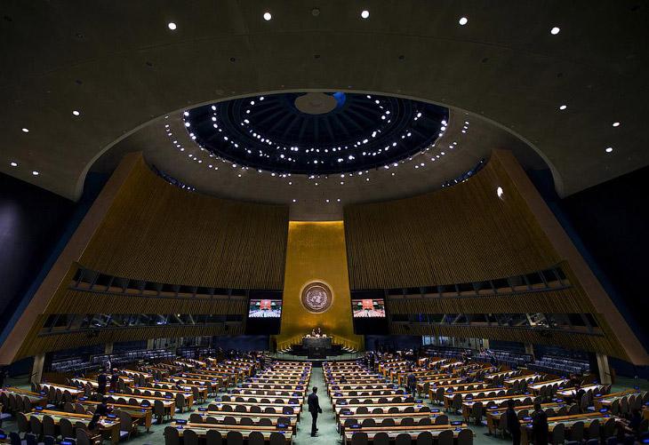 Прогулка по по штаб-квартире ООН в Нью-Йорке