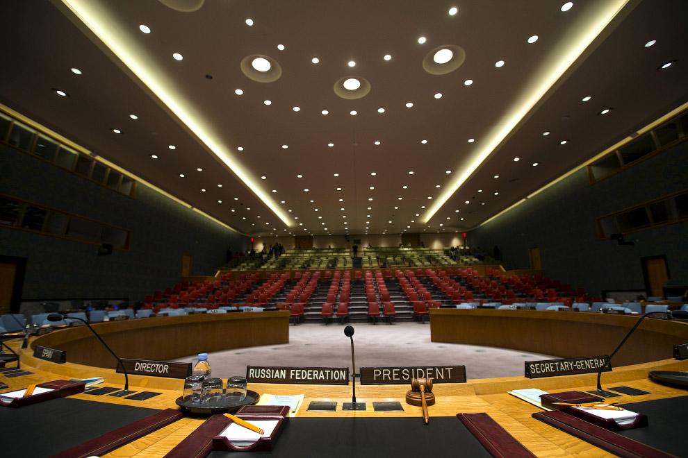 Место для российского президента. Штаб-квартира ООН в Нью-Йорке