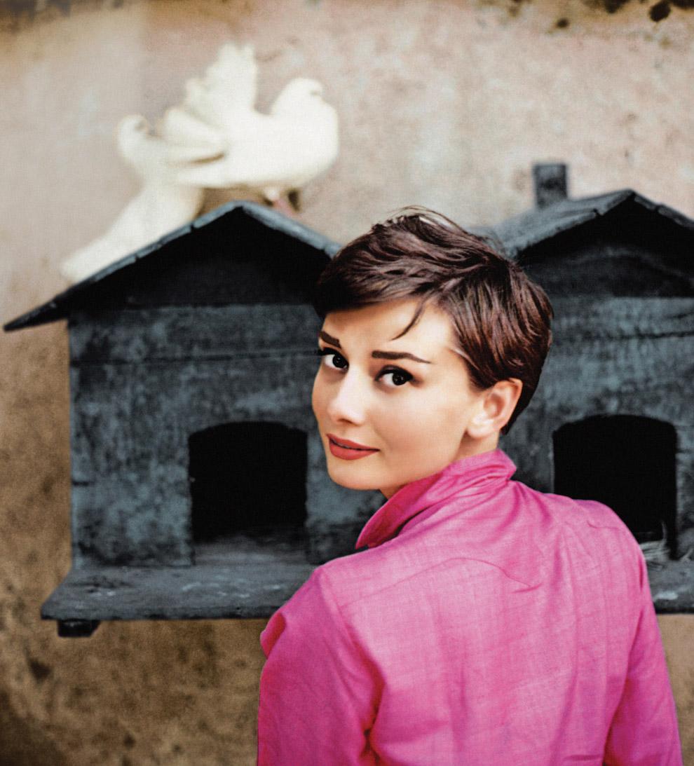Одри Хепберн, Италия, 1955, фотограф Philippe Halsman