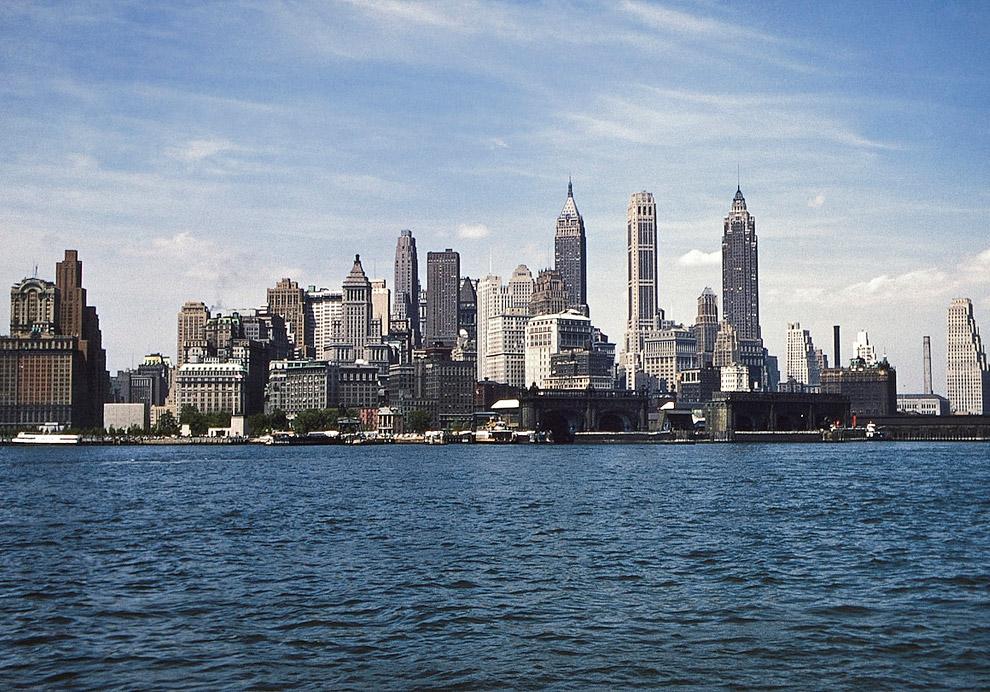 Классический вид нижнего Манхэттена в 1955 году