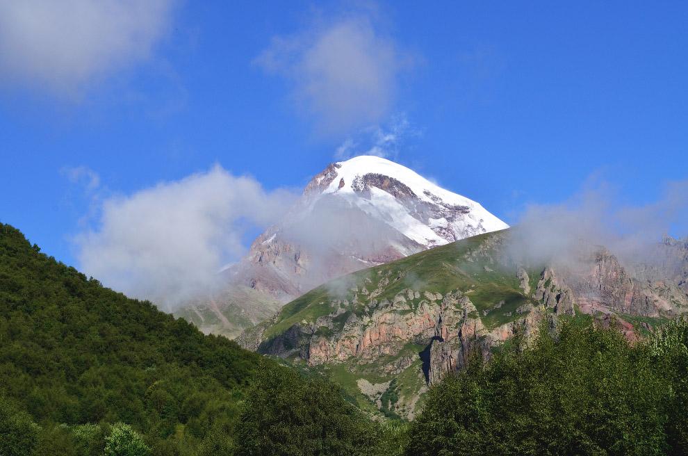 вершина горы Казбек