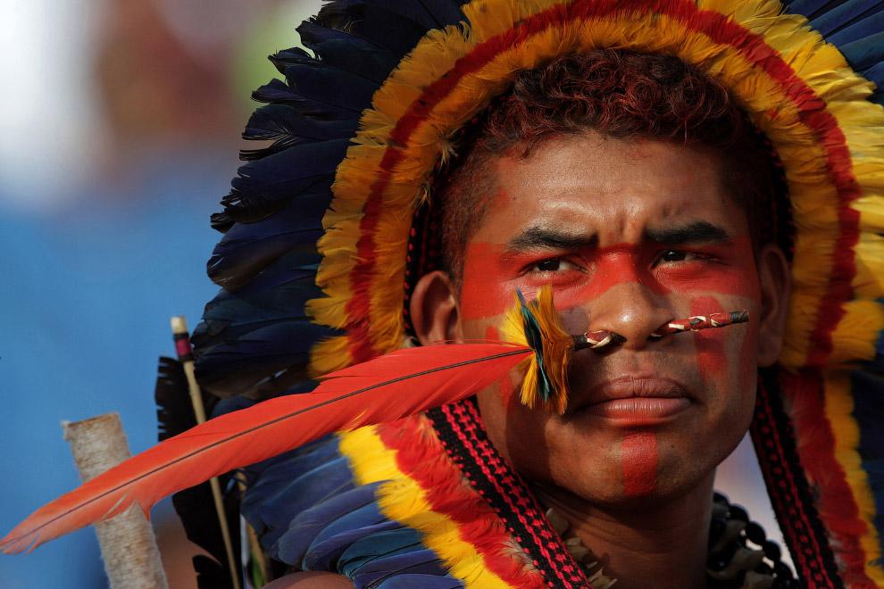 Бразильский бороро приехал на соревнования во всей красе