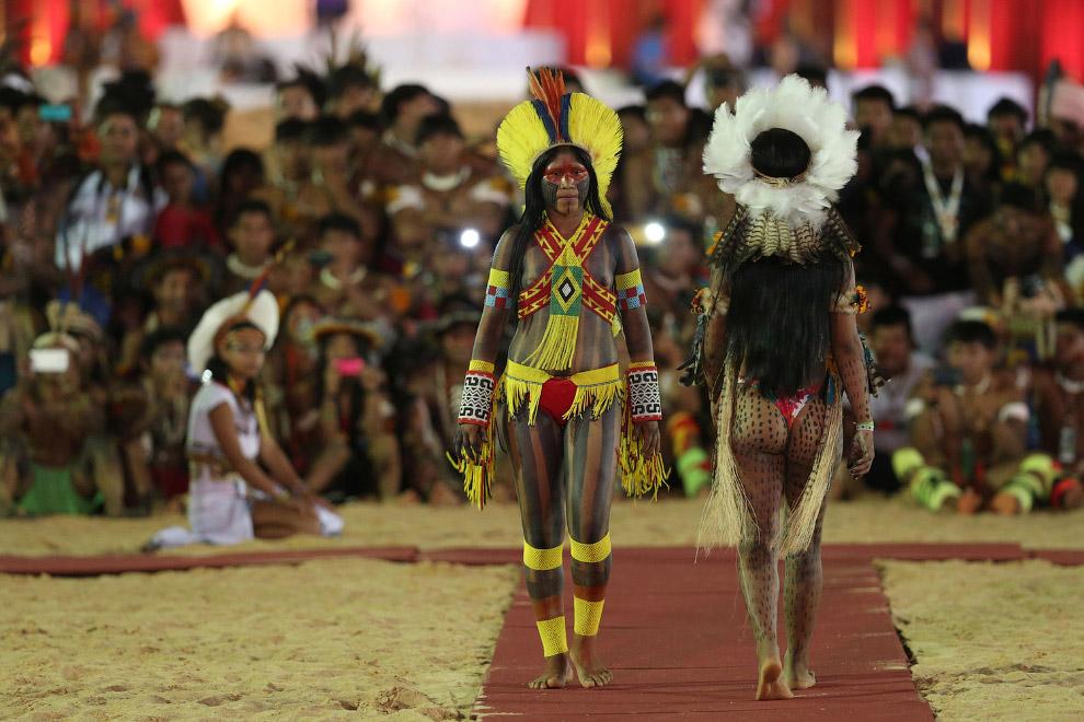Так выглядел конкурс красоты на 1-х Всемирных Играх коренных народов