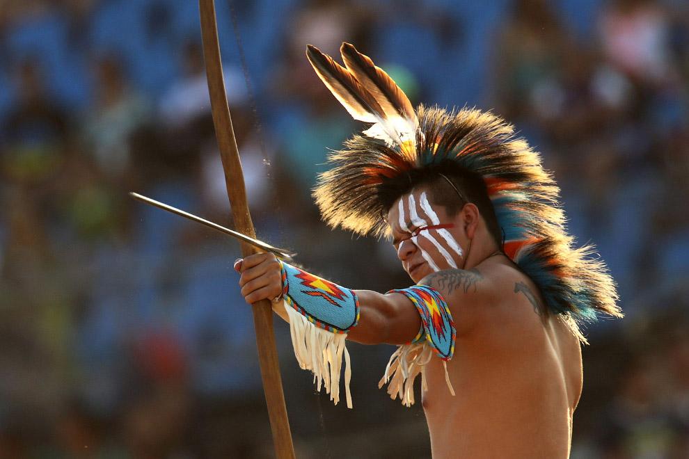 Так проходят 1-е Всемирные Игры коренных народов в Бразилии. Церемония закрытия Игр состоится 1 ноября