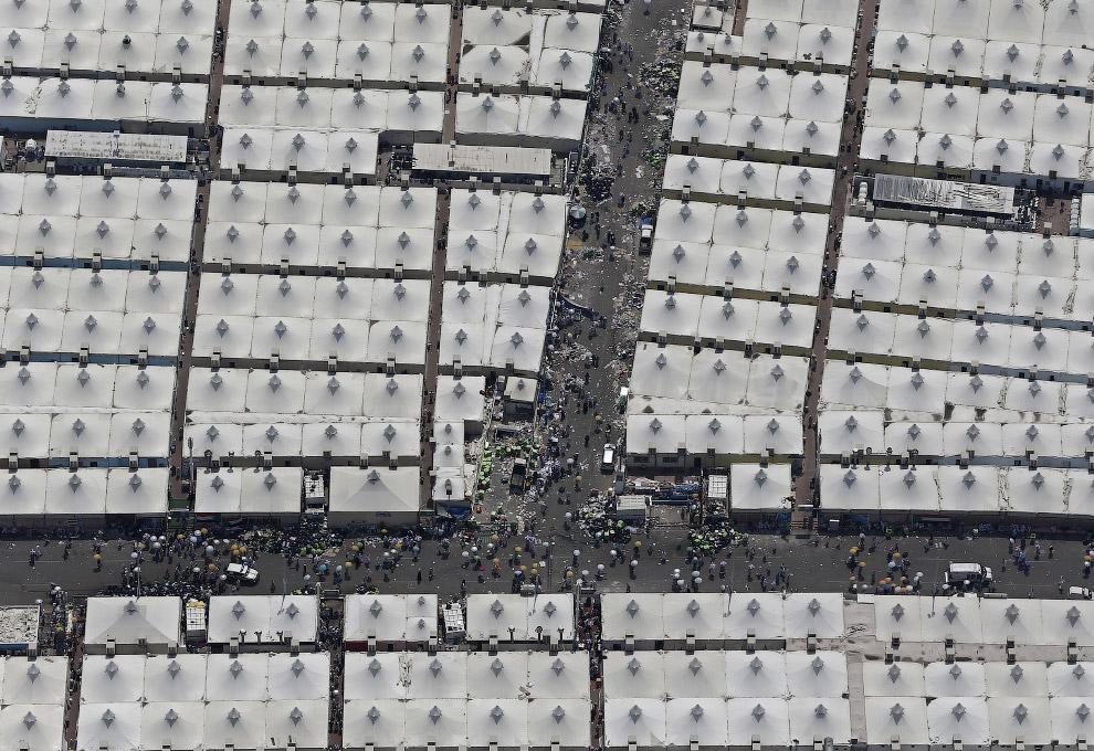 Палаточный город мусульманских паломников