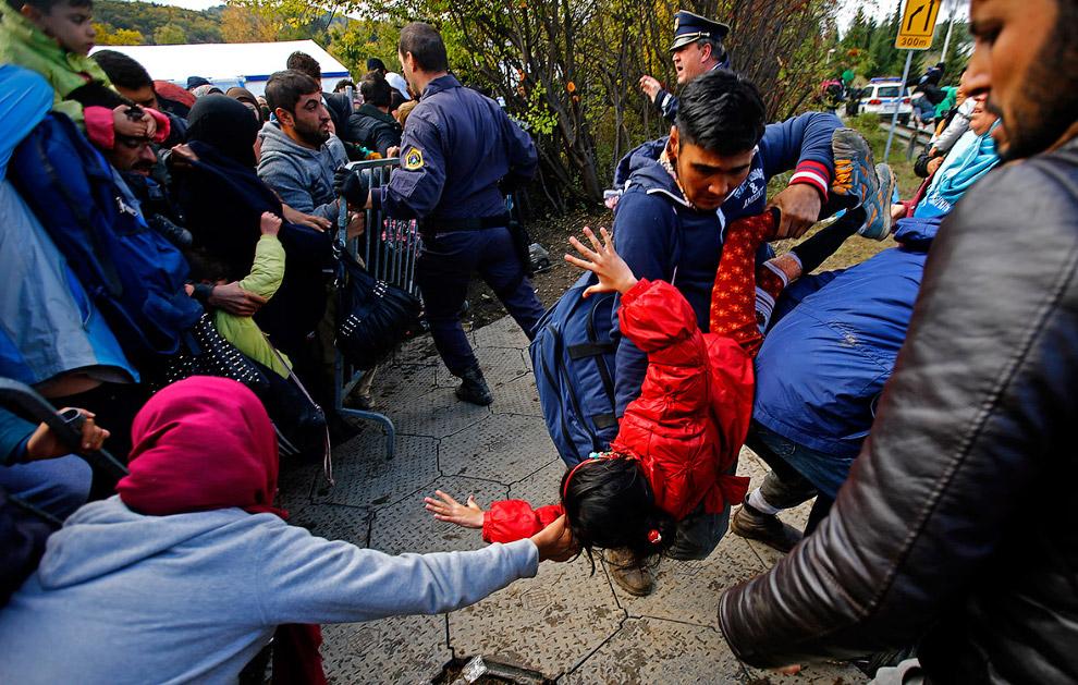 Попытка прорыва кордона в Словении недалеко от австрийской границы