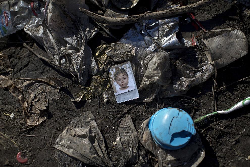 Детская фотография на границе Сербии с Хорватией