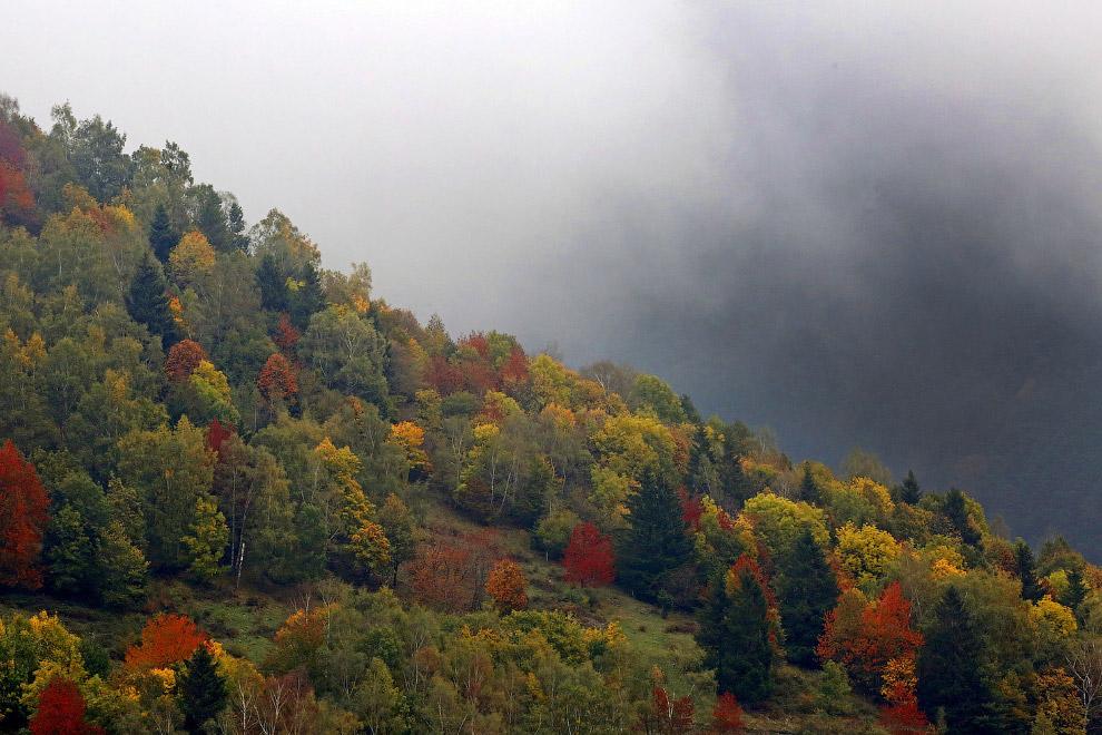 Осень в горах на востоке Франции