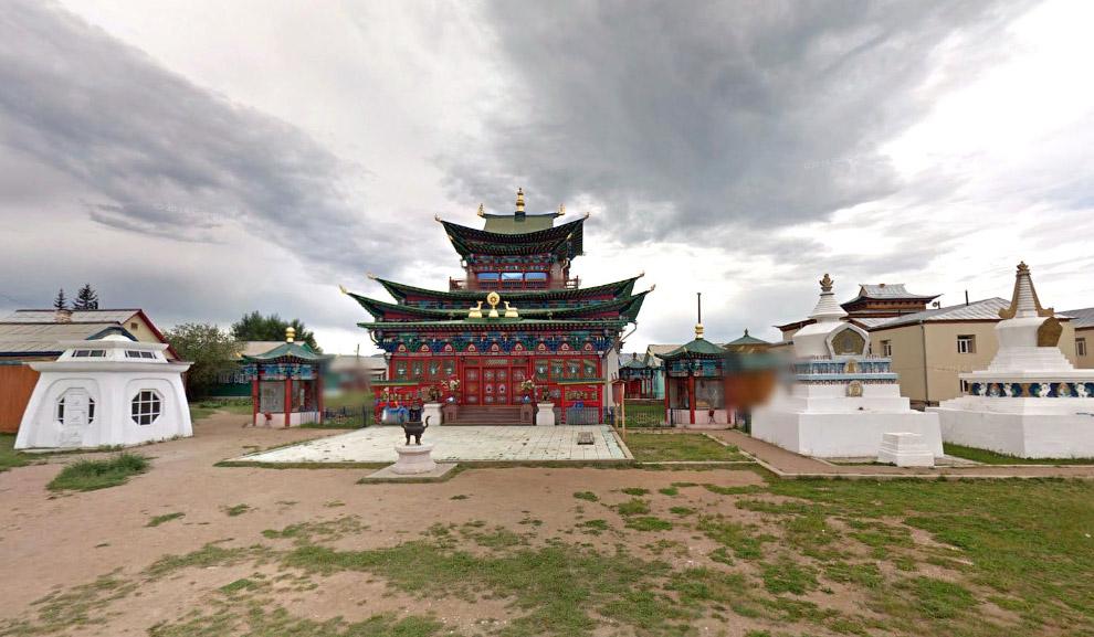 Иволгинский Дацан, буддийский храм в Бурятии, Россия