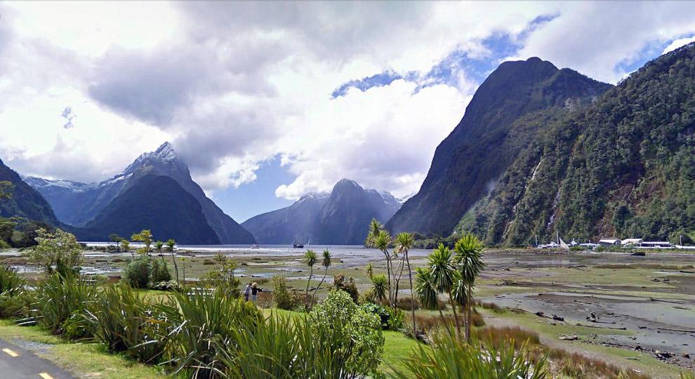 Конец шоссе в Новой Зеландии