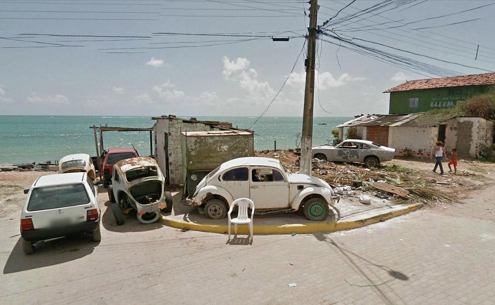 Конец дороги в городе Паулиста, Бразилия