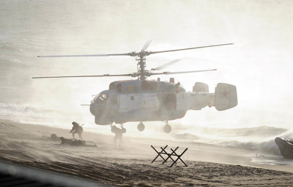 Военные учения в Балтийском море в Калининградской области