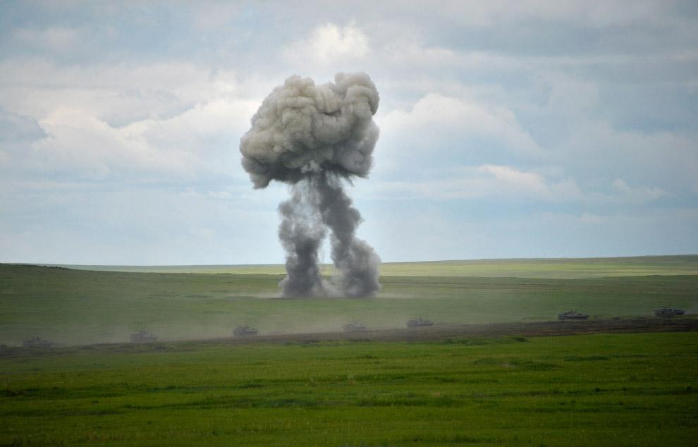 Танковые учения в Забайкальском крае