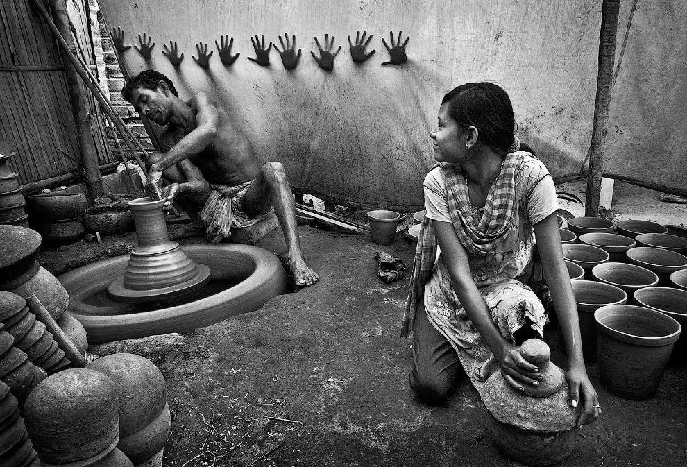 Гончары в Западной Бенгалии, Индия