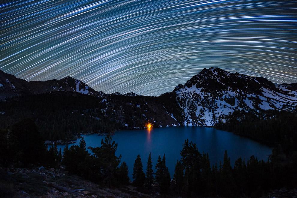 Звездные треки в Калифорнии