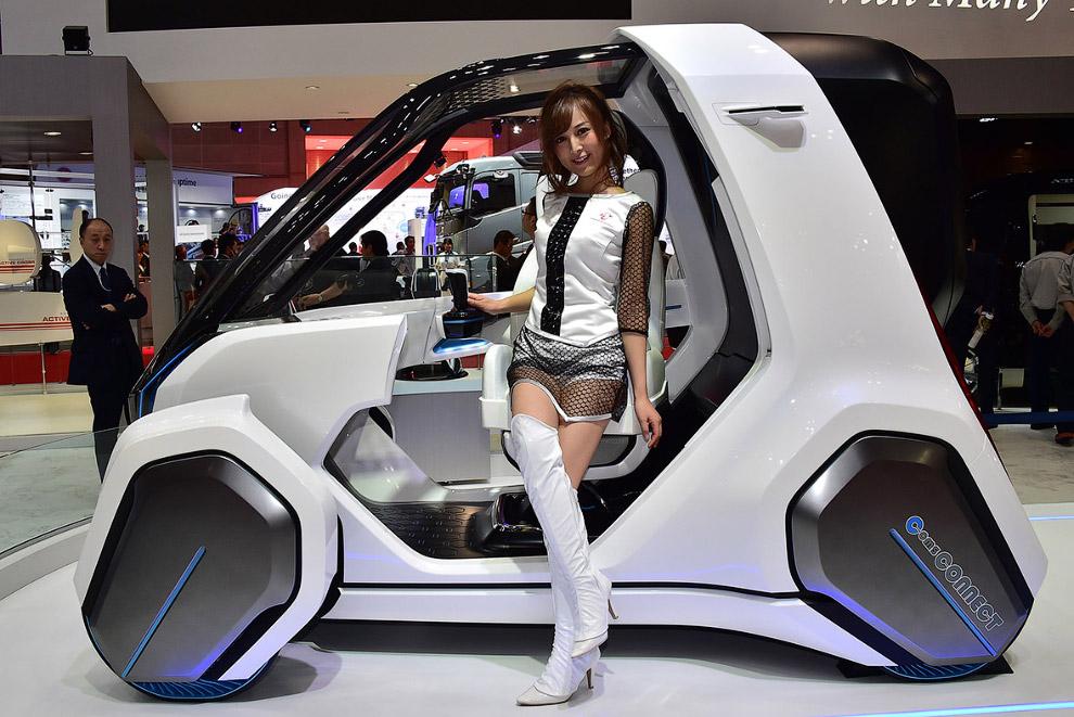 Прототип городского электромобиля COMS Connect от Тойоты
