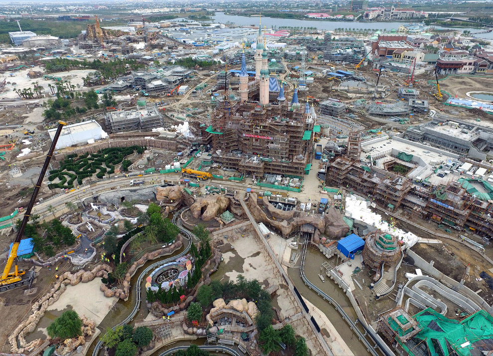 Строительство шанхайского Диснейленда