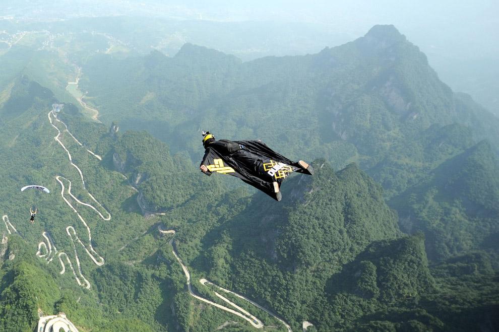 Полет в горах Тяньмэнь