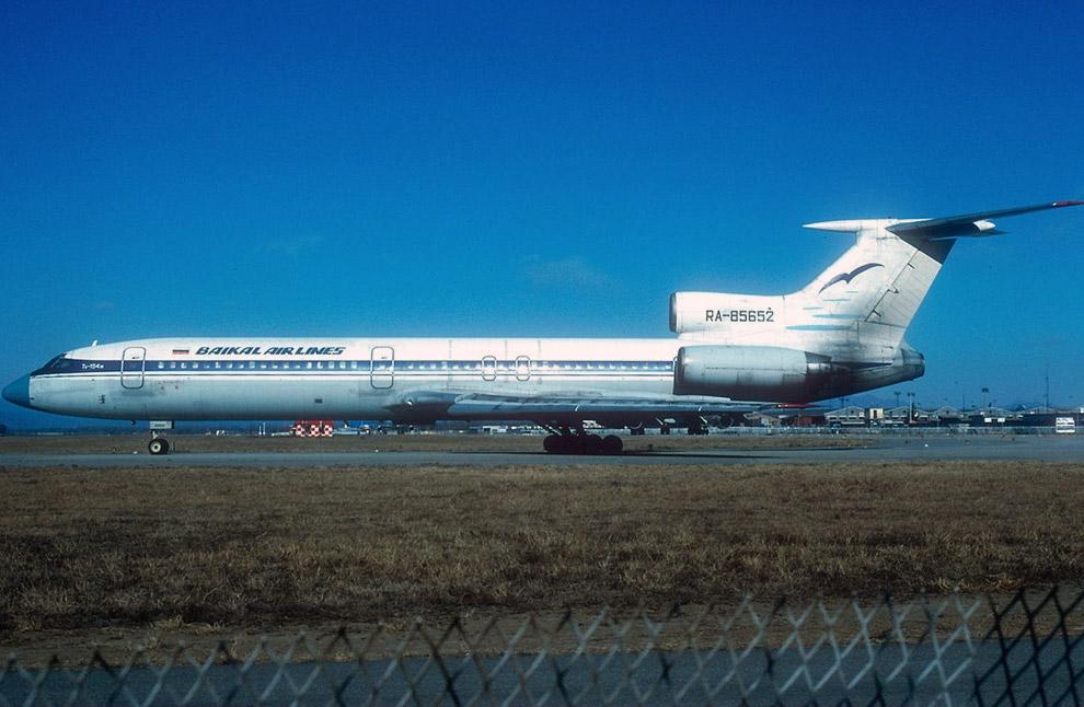 1994 год, Ту-154М авиакомпании «Байкал»