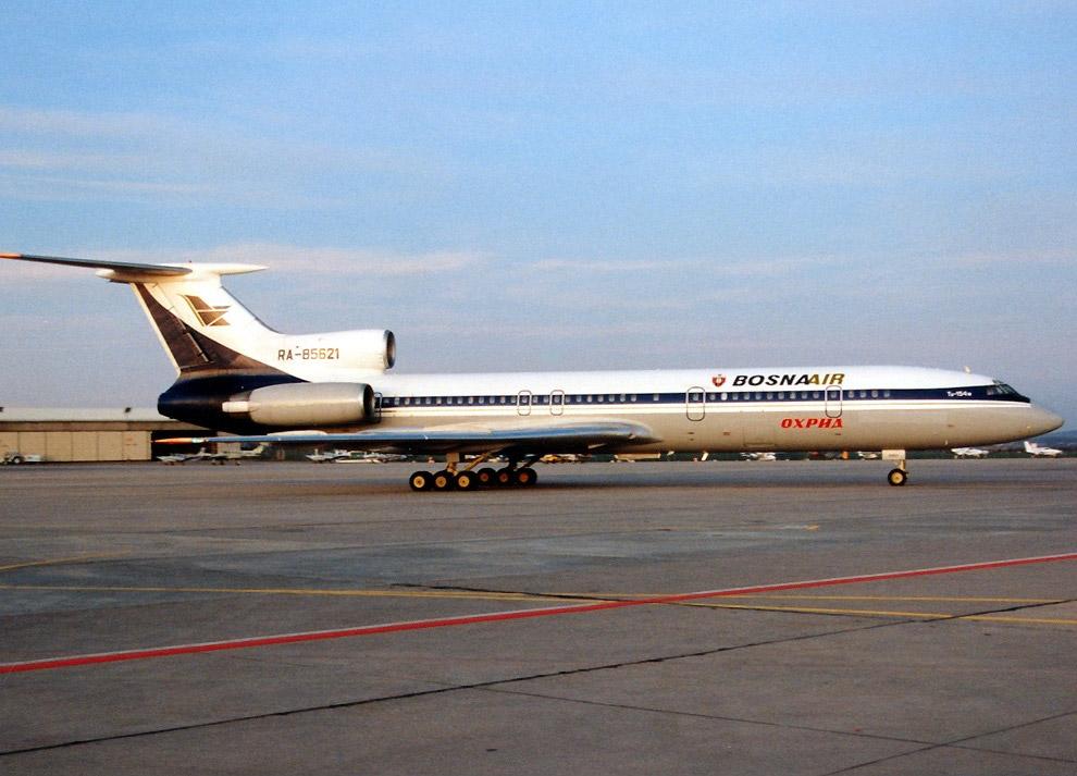 Разбившийся самолёт в период работы в BosnaAir
