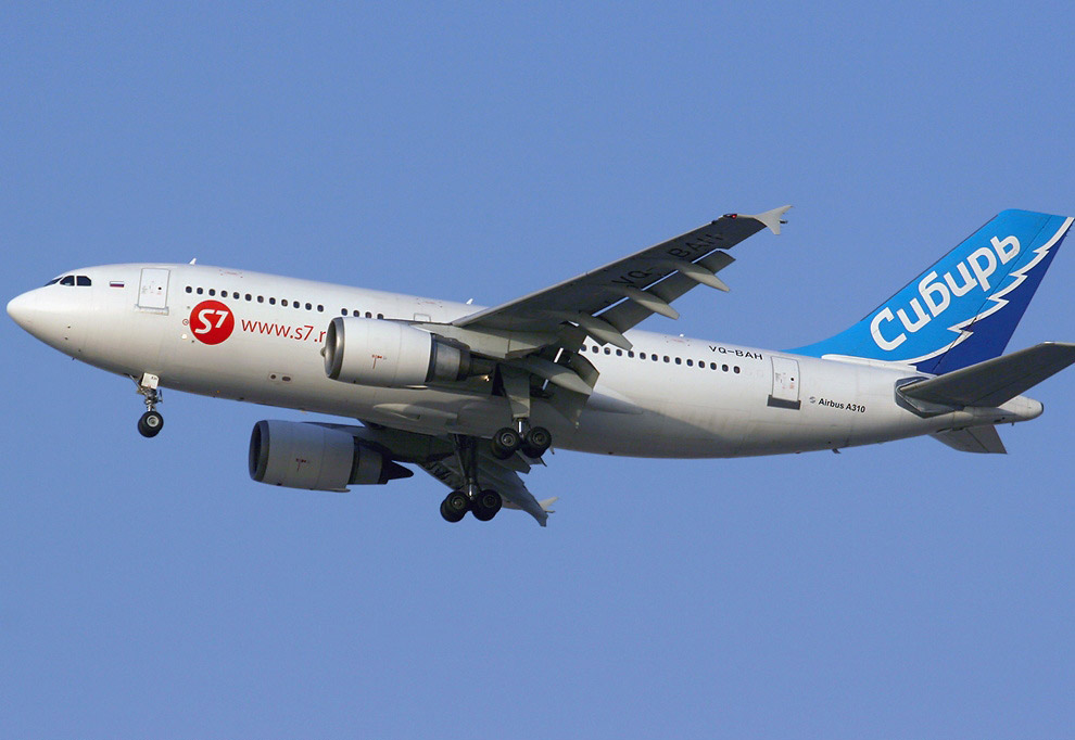 2006 год, Airbus А310 авиакомпании «Сибирь»