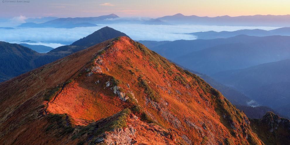 Вид с хребта горы Поп Иван Мармарошский