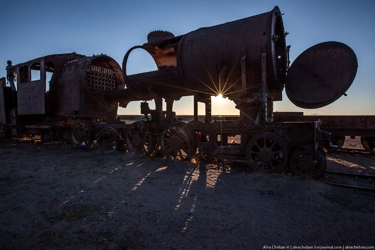 Кладбище паровозов в Боливии