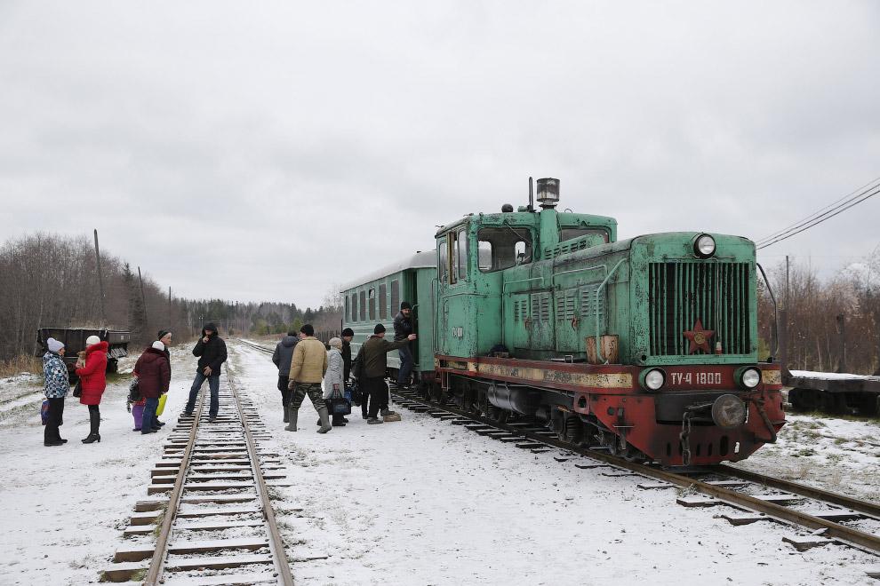 Посадочная платформа на станции в селе Угольная, Свердловская область