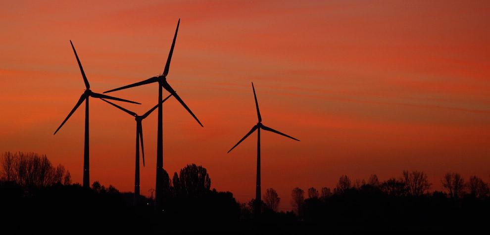 Ветряки юге Бельгии