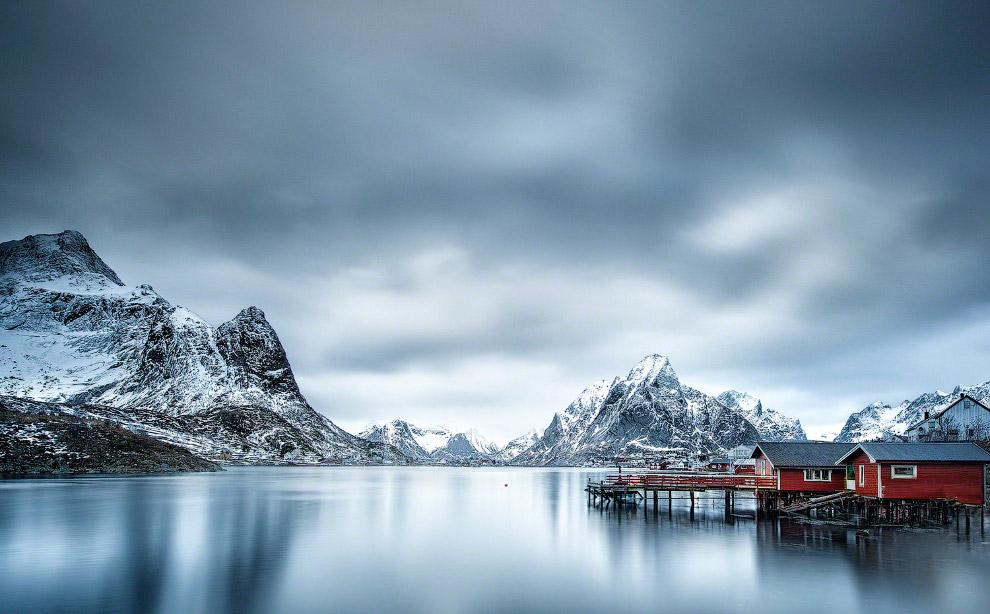 Серебряный пейзаж в северной Норвегии