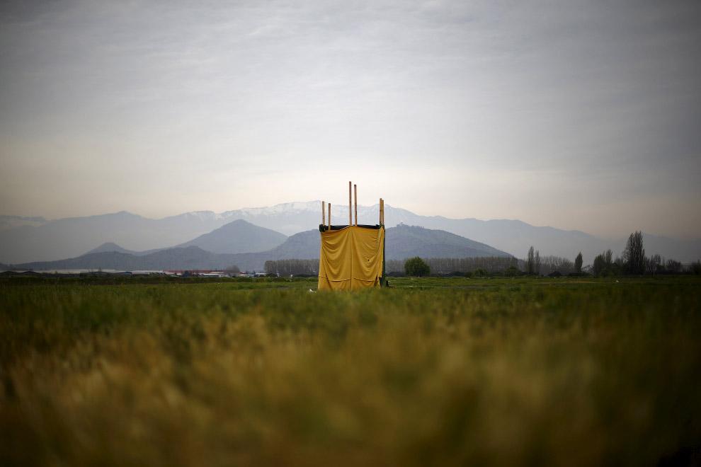В чистом поле на окраине Сантьяго, Чили