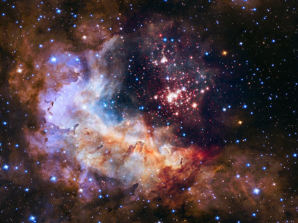 Звездное скопление Westerlund 2 в созвездии Киля