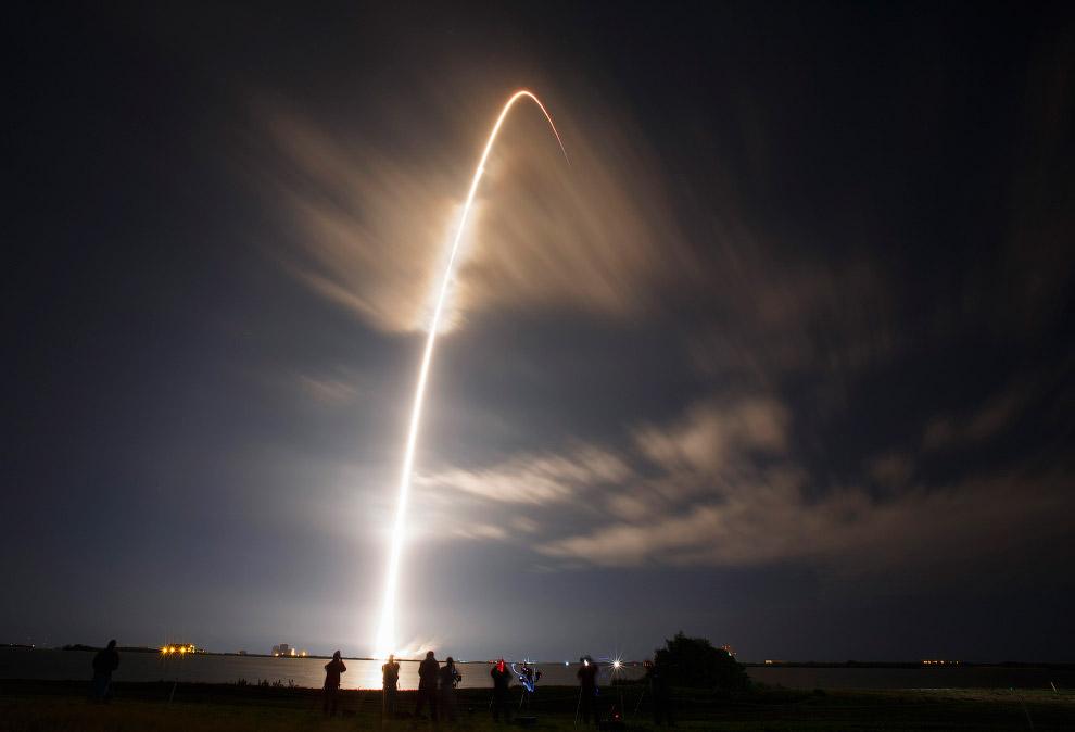 Старт ракеты-носителя SpaceX, штат Флорида