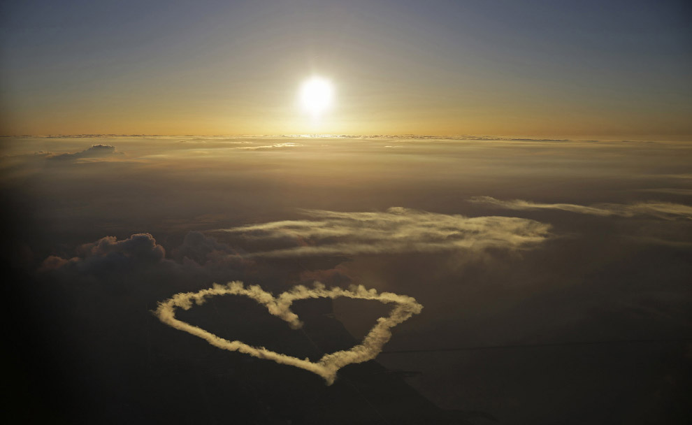 Сердце в облаках над Новым Орлеаном