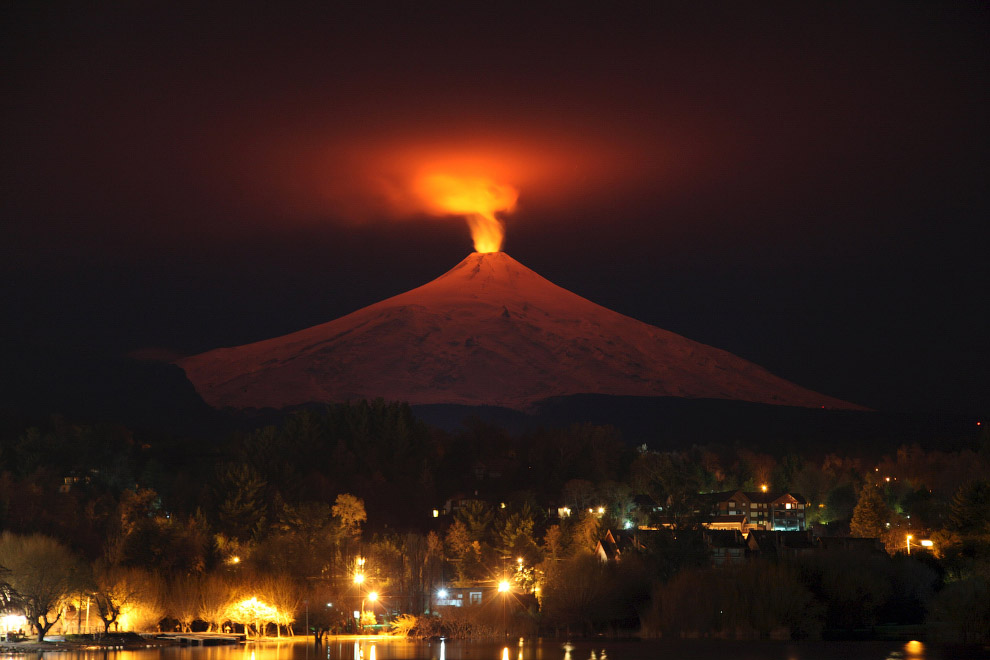 Вильяррика — вулкан в Араукании, Чили