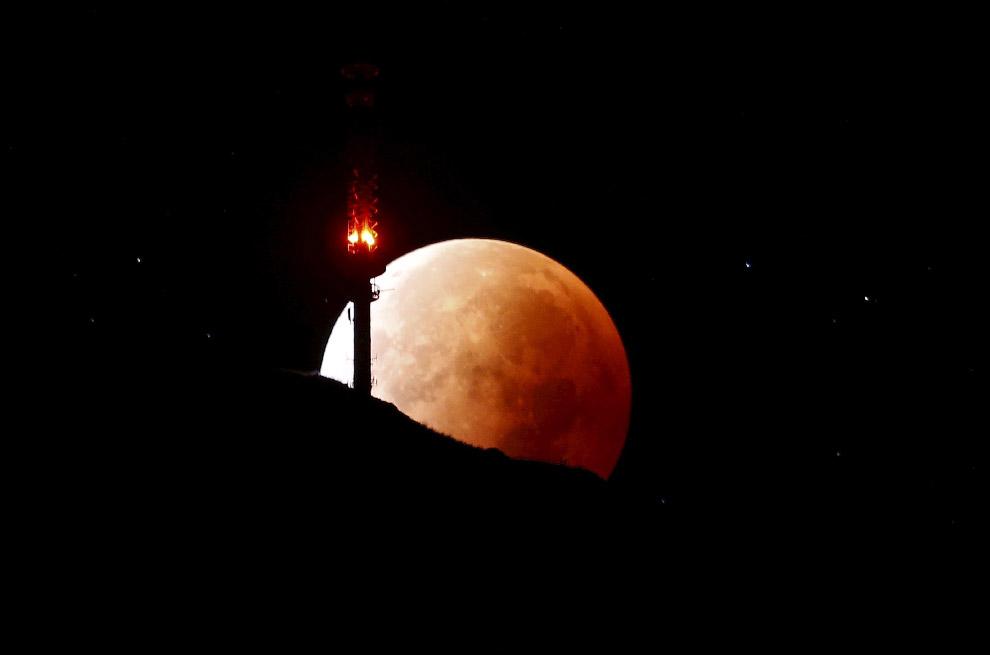 Лунное затмение в Швейцарии