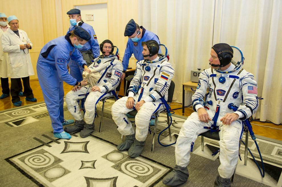 К МКС отправились россиянин Юрий Маленченко, американец Тимоти Копра и европейский астронавт Тимоти Пик