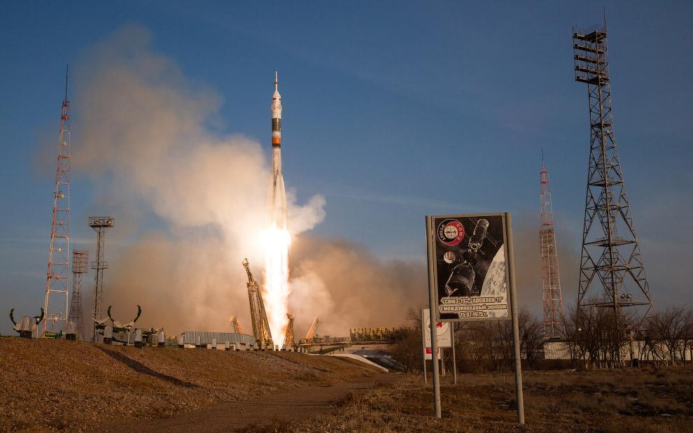 Старт космического корабля «Союз ТМА-19М», космодром Байконур