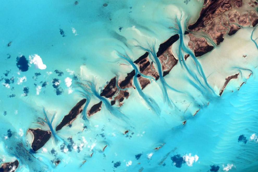 Багамы с высоты МКС