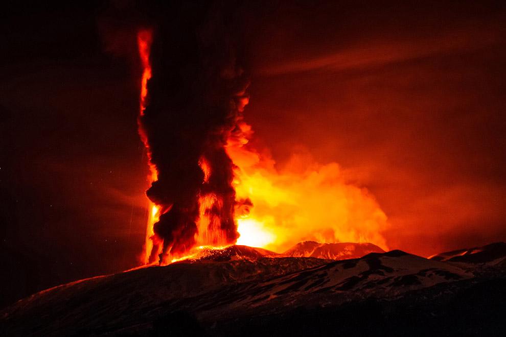 Действующий стратовулкан Этна