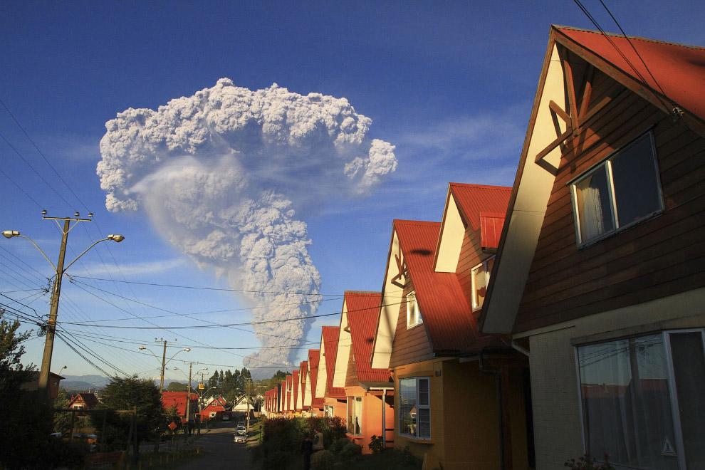 Это активный вулкан Кальбуко в Андах на территории Чили