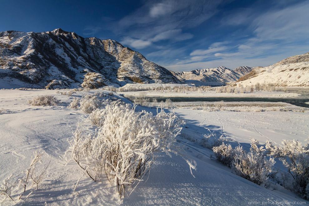 Суровая алтайская зима