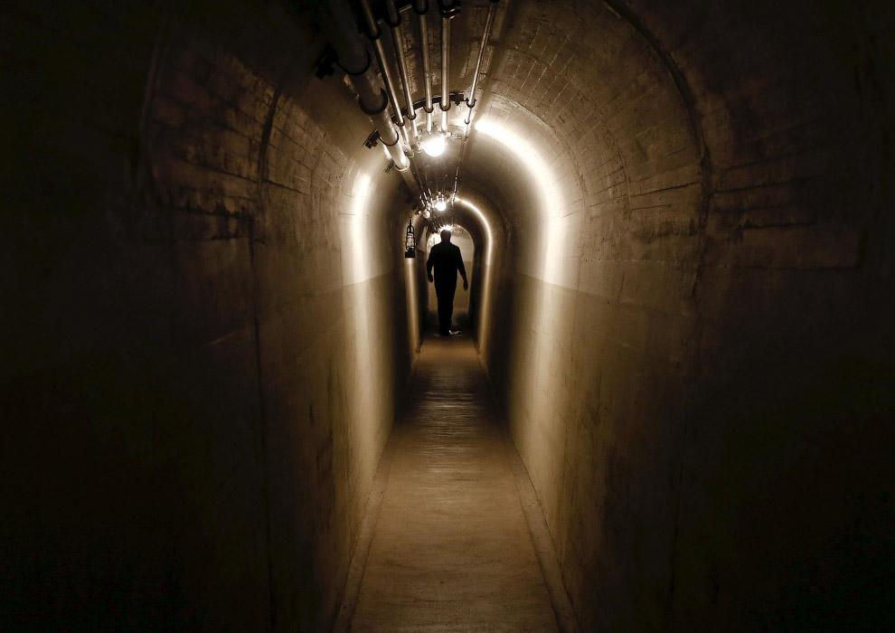 Тоннель в артиллерийском форте в Фаулензее
