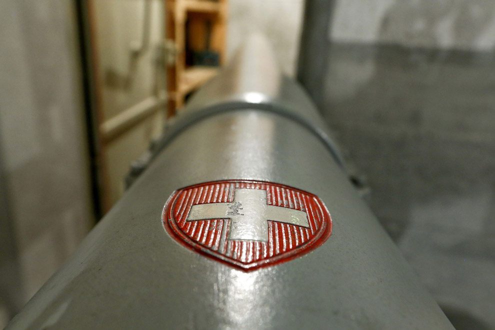 Ствол пушки в артиллерийском форте в Фаулензее, Швейцария