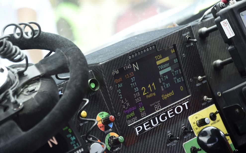 Приборная панель машины команды Пежо